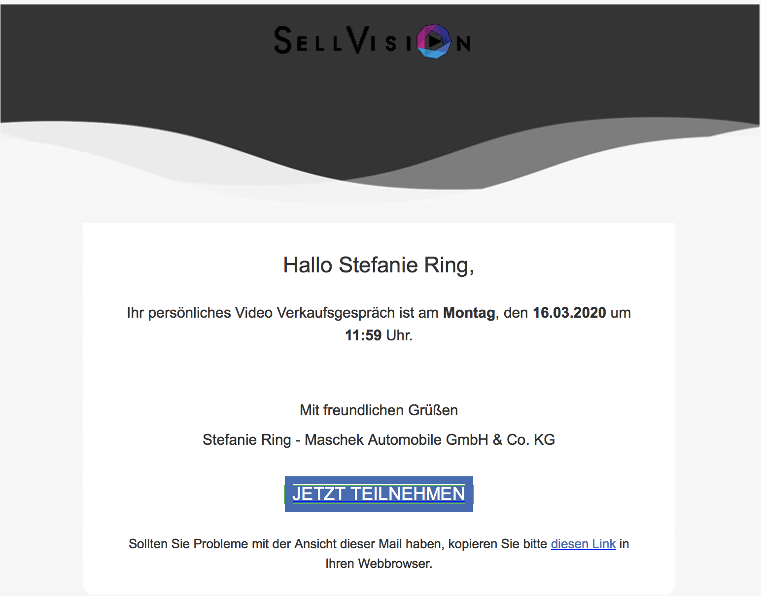 E-Mail Sellvision | Maschek Automobile